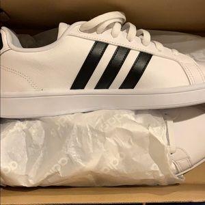 NIB Adidas White w/ Black Stripes